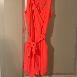 Bright orange romper